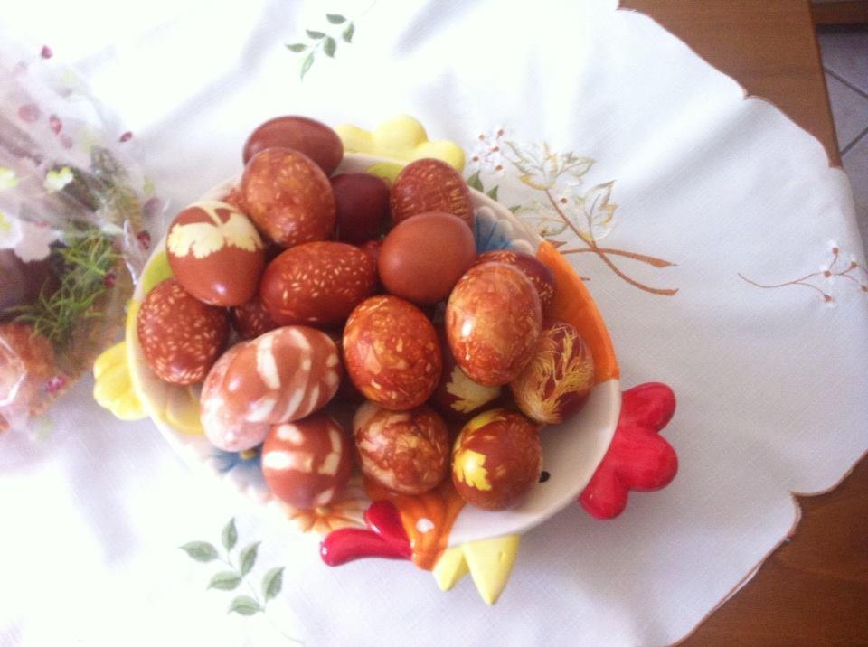 Технология крашения пасхальных яиц