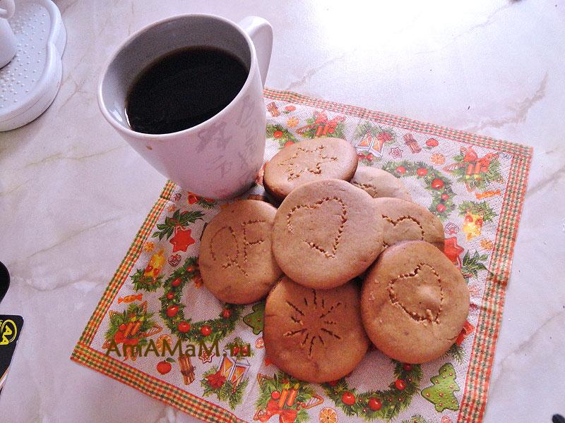 Как выглядит простое имбирное печенье с пряностями - фото