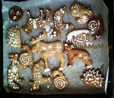 Интересные формочки для печенья и имбирных пряников - животные.