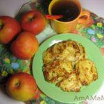 Оладьи яблочно-сырные с имбирем