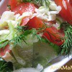 Салат из капусты с помидорами и огурцами
