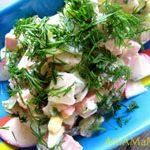 Салат из окрошки