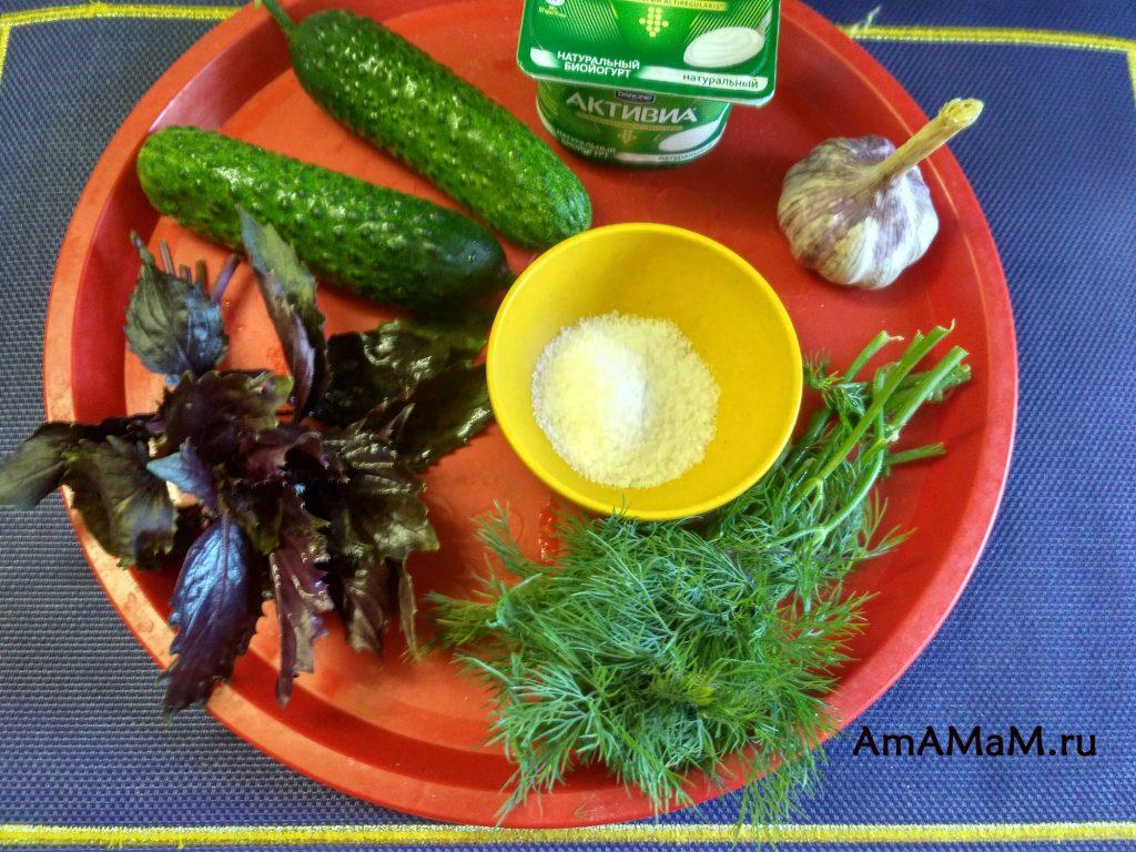 Что требуется для соуса из огурцов - состав рецепта