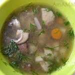 Грибной суп с говядиной