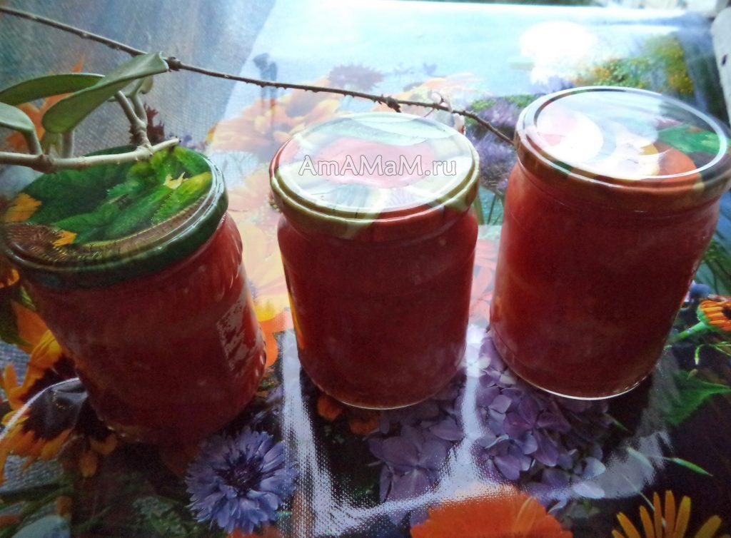 Рецепт заготовки сладкого перца с помидорами