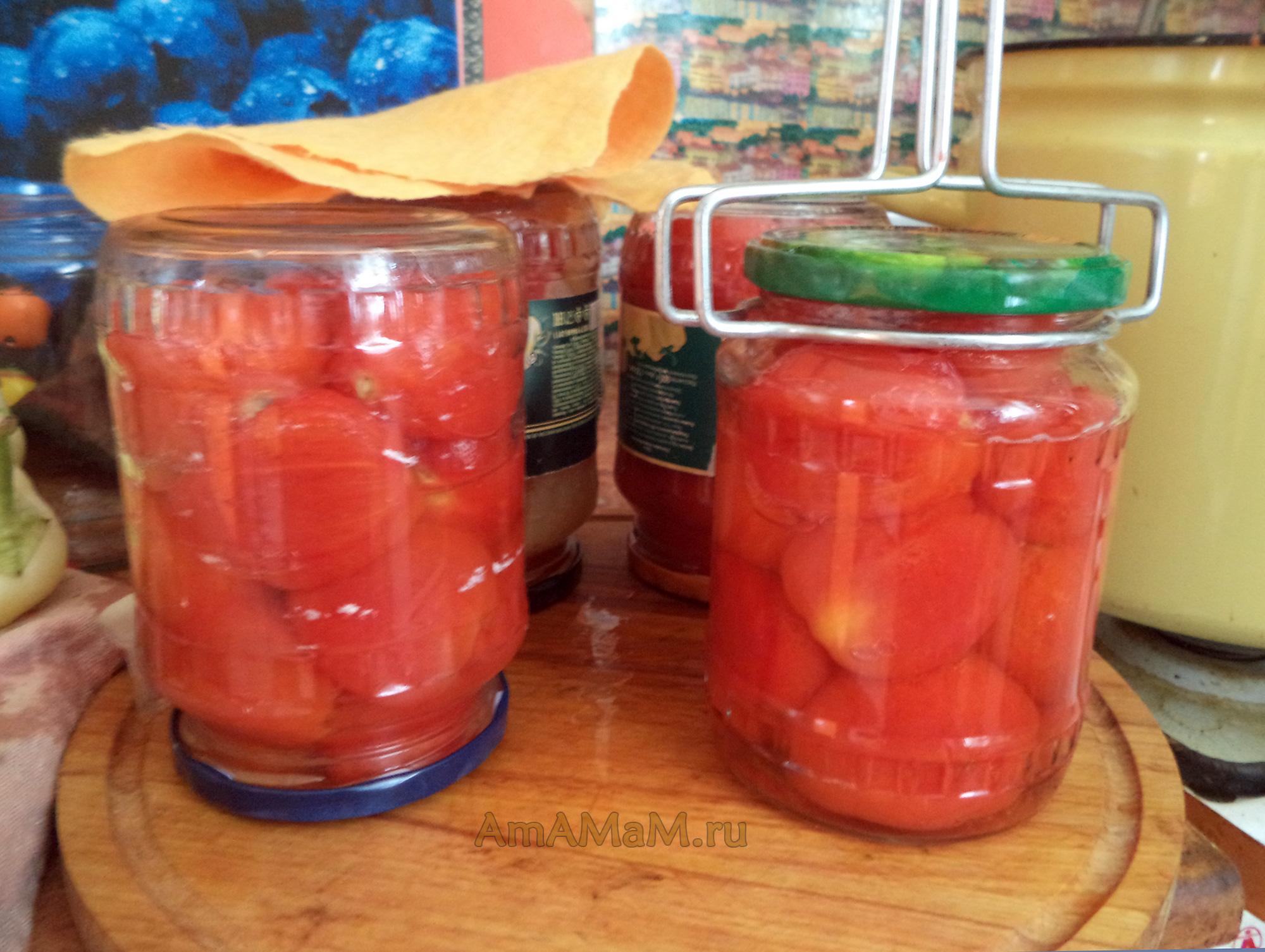Консервирование томатов в собственном соку в домашних условиях 205