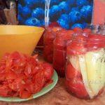 Рецепт помидоров с солью - консервирование