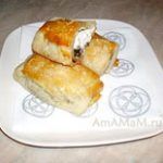 Пирожки с козьим сыром из слоёного теста