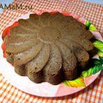 Простой шоколадный пирог (бисквитное тесто)