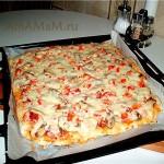 Пицца на тонкой основе по-итальянски (без дрожжей)