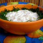 Салат из редьки со сметаной