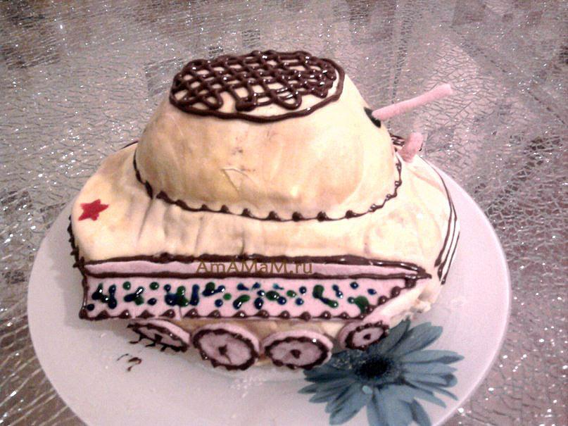 Приготовление торта-танка своими руками в домашних условиях