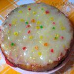 Яблочный пирог с фруктовым заварным кремом