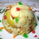 Десерт из яблок (яблоки в тесте)