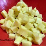 Картофель, нарезанный для супа