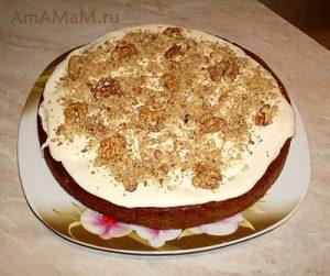 Рецепт морковного пирога с кремом из маскарпоне - фото и рецепт