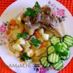 Тушеная картошка с говяжьей грудинкой