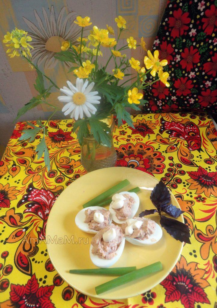 Фаршированные яйца - рецепты
