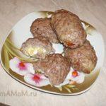 Мясные зразы с яйцом и луком