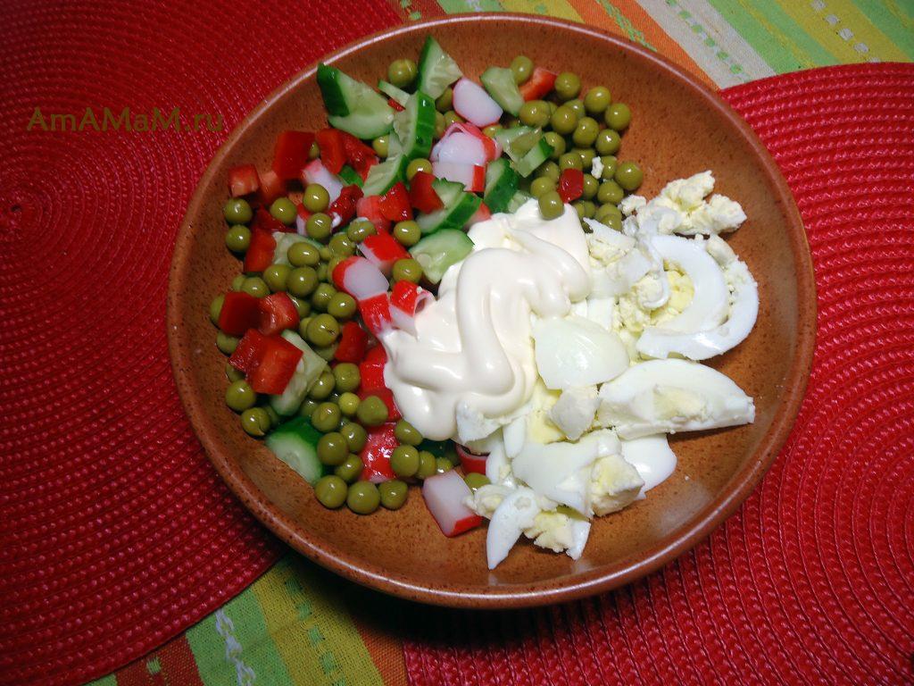 Крабовые палочки- рецепт салата
