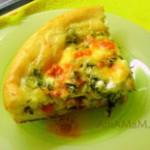 Пицца с рыбной начинкой (готовится быстро)