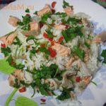 Рис с рыбой и перцем чили (без соли)