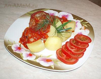 Тарелка с ежиками и картошкой - вкусный и простой ужин!