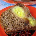 Шоколадный банановый кекс с финиками (манник)