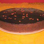Шоколадный торт с вишнями (французский)