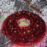 Салат Гранатовый браслет (с копченой курицей, слоеный)