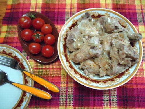 Блюдо из тушеной курицы в банке (советский рецепт). Очень вкусно!