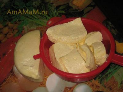 Рецепт приготовления хачапури - подготовка начинки