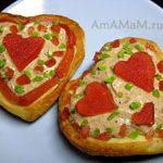 Пирожные из слоеного теста с кремом и мармеладом