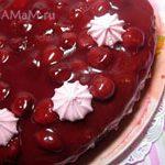 Торт Вишневые сумерки-вишневый торт с шоколадным бисквитом и легким кремом