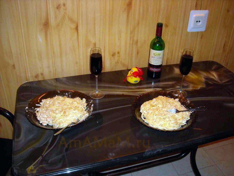 Что приготовить на романтический  ужин - рецепт пасты