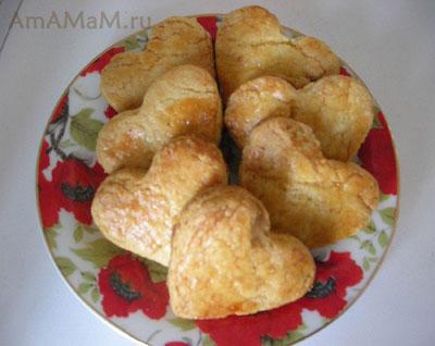 Как выглядит песочное печенье в форме сердечка