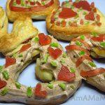 Заварные пирожные Валентинки (эклеры)