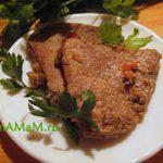 Свинина острая с аджикой (жареная или тушеная)