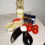Закуска Кораблики – жареные баклажаны с сыром и помидорами
