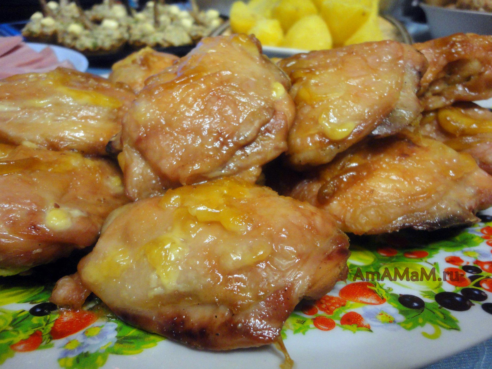 Рецепты из куриных бедрышек с фото