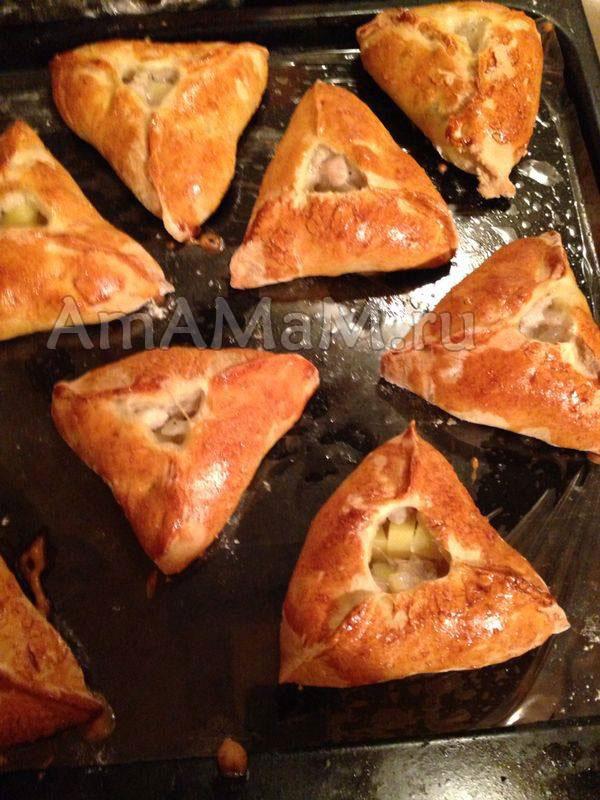 Рецепт треугольников с мясом - татарская кухня