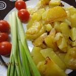 Картофель жареный на растительном масле (с луком)