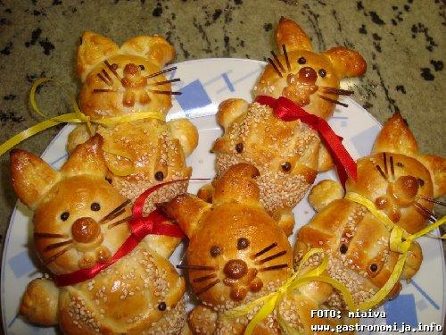 Пасхальные котики - сладкая выпечка