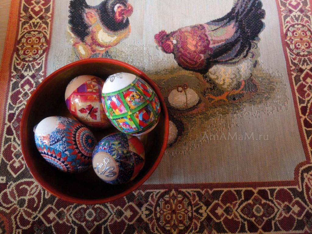 Фото красивых пасхальных яиц в термоэтикетках
