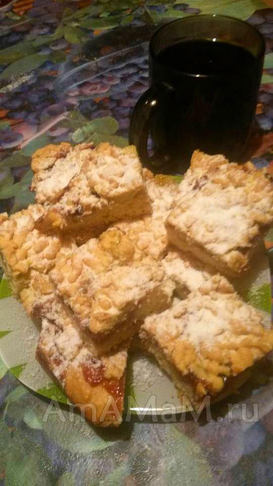 Рецепт песочного печенья с джемом