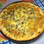 Пицца с грибами (дрожжевое тесто)