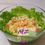 Салат Восточный экспресс из семги с овощами и зеленью