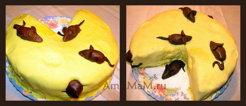 Рецепт торта Сыр с мышками
