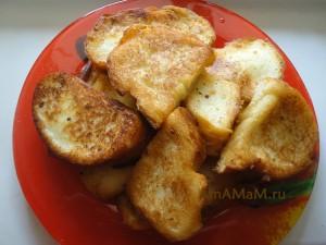 Жареные гренки (сладкие) - простой рецепт домашнего десерта на скорую руку