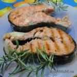Жареная красная рыба с лимоном (на сковороде-гриль)